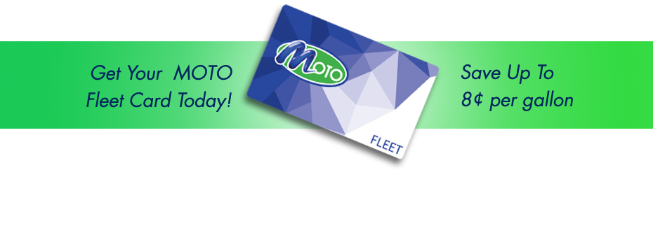Moto Fleet Card page banner showing moto fleet card