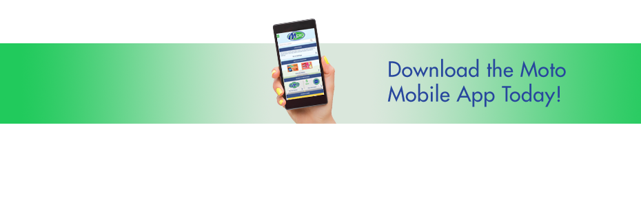 Magic Wand Card page banner showing hand holding mobile phone with MotoMart App